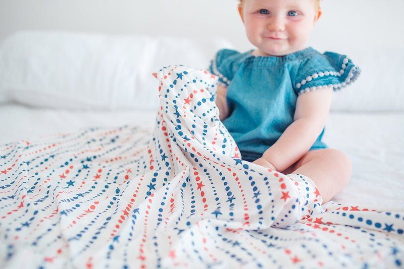 Copper Pearl Knit Swaddle Blanket - Glory