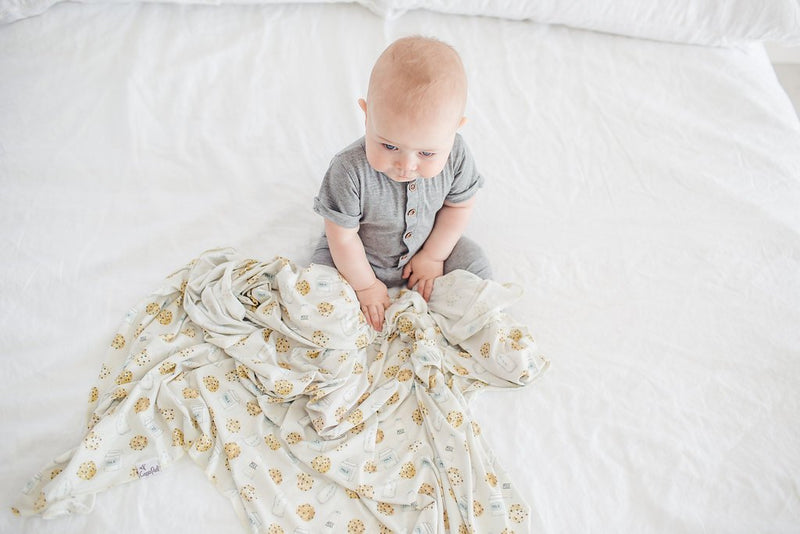 Copper Pearl Knit Swaddle Blanket - Chip