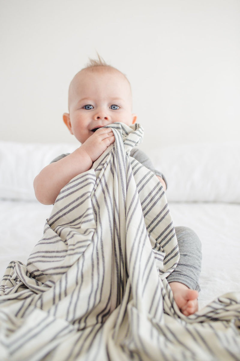 Copper Pearl Knit Swaddle Blanket - Midtown