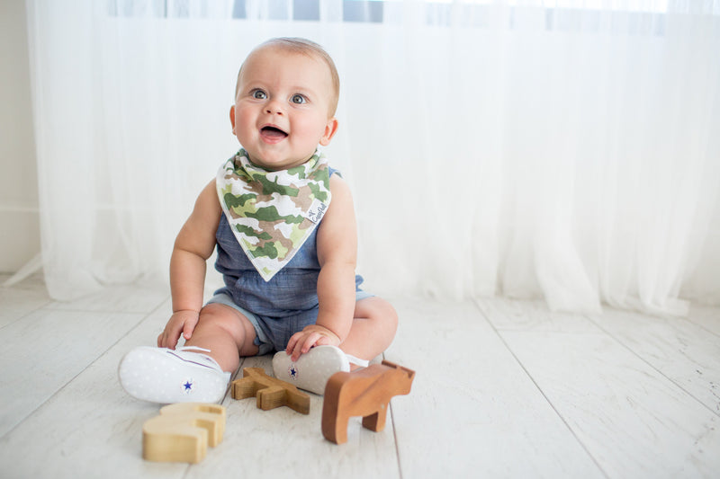 Copper Pearl Baby Bandana Bibs - Safari