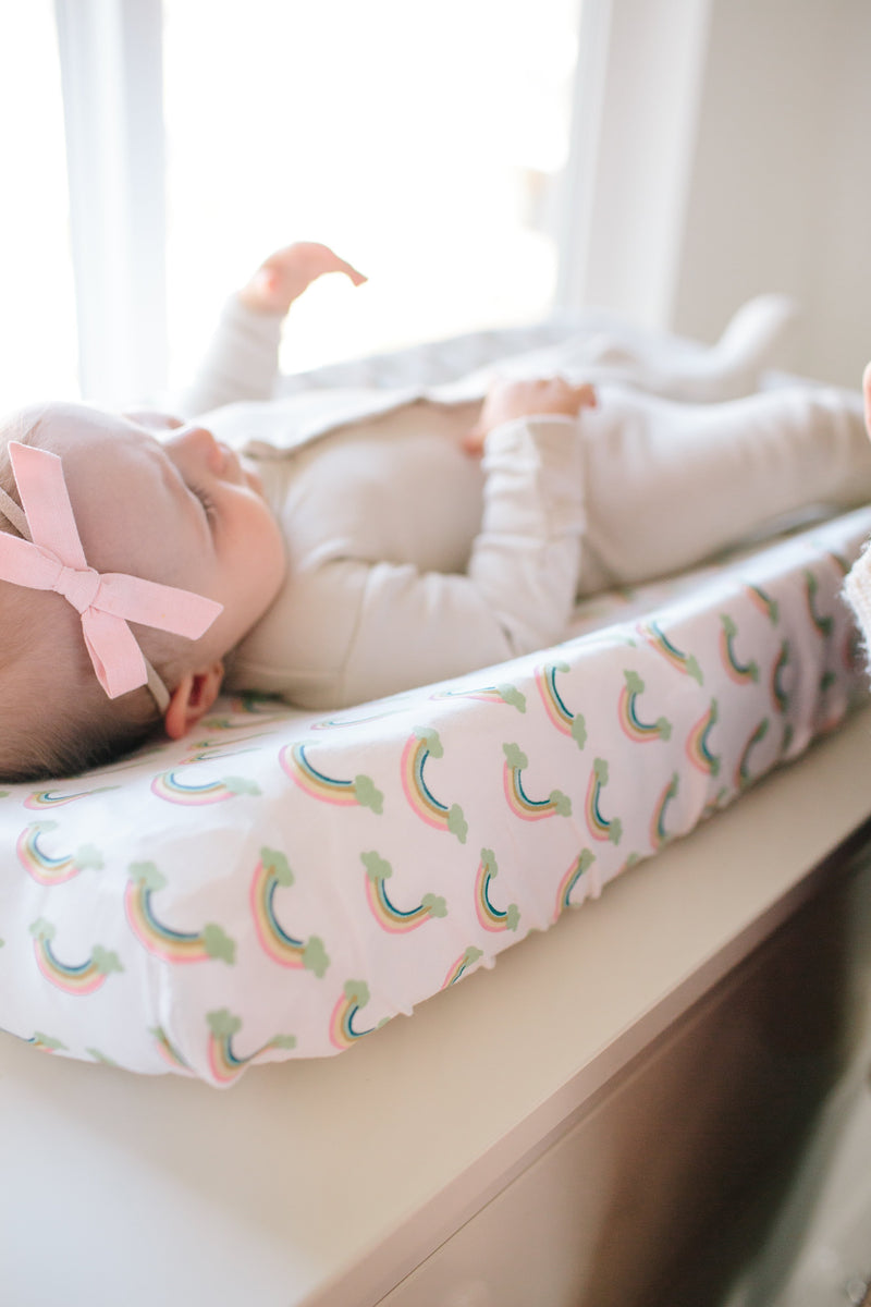 Copper Pearl Diaper Changing Pad Cover - Daydream