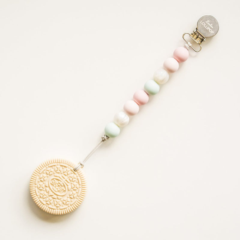 Loulou Lollipop Cream Cookie Teether with Holder Set