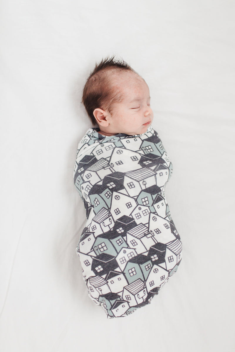 Copper Pearl Knit Swaddle Blanket - Urban