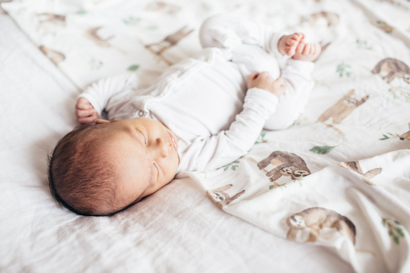 Copper Pearl Knit Swaddle Blanket - Noah