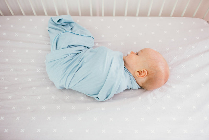 Cotton Fitted Crib Sheet - Slate - Copper Pearl - 8