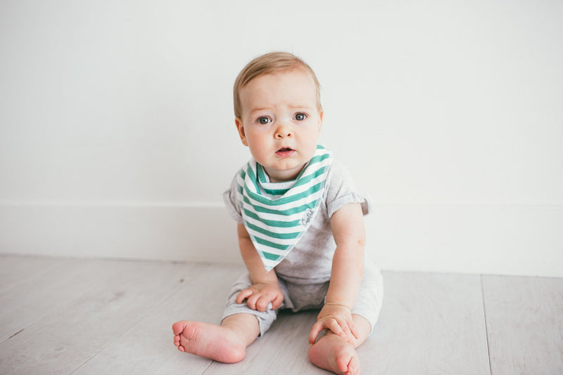 Baby Bandana Bibs - Oxford - Copper Pearl - 4