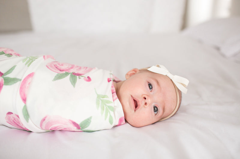 Copper Pearl Knit Swaddle Blanket - Grace