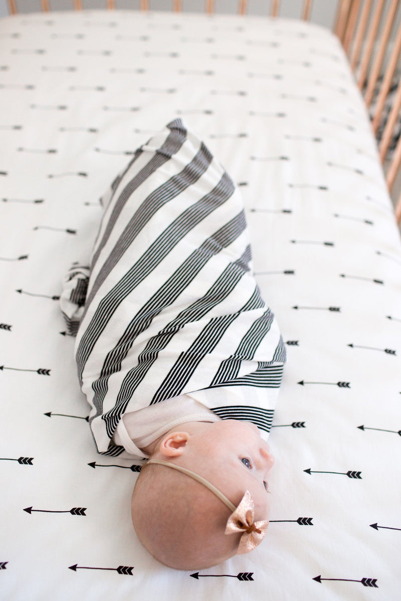 Copper Pearl Cotton Fitted Crib Sheet - Native