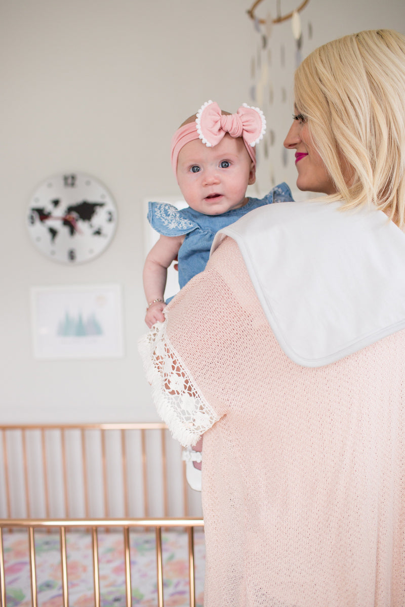 Copper Pearl Premium Burp Cloths - White Basics