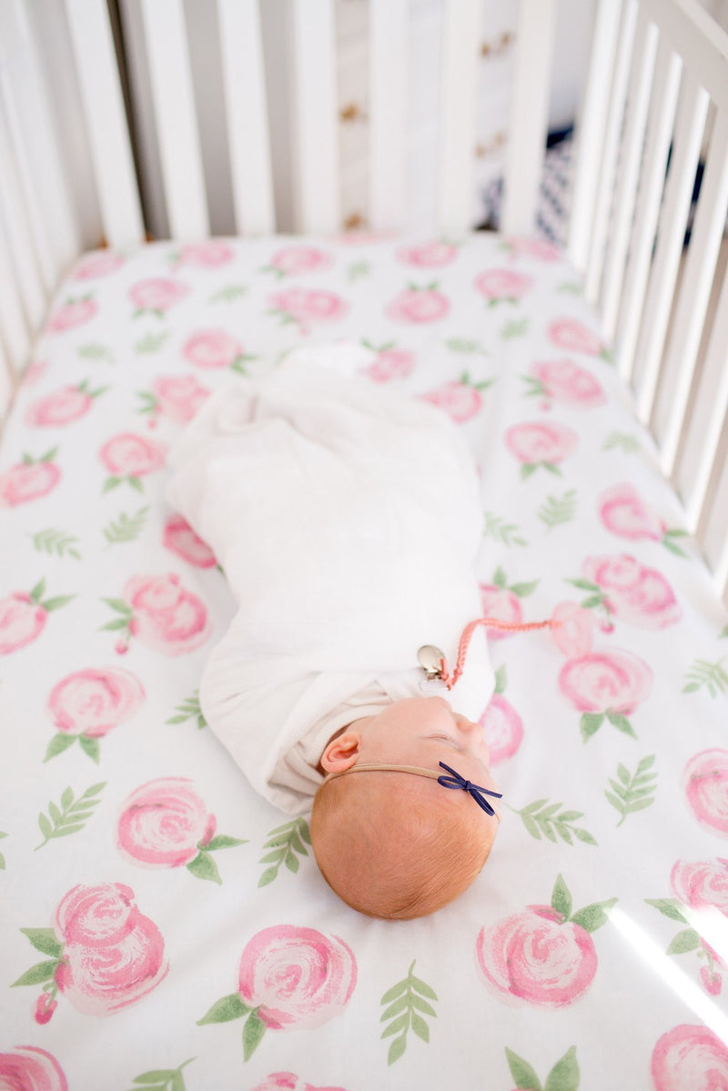 Cotton Fitted Crib Sheet - Grace - Copper Pearl - 2
