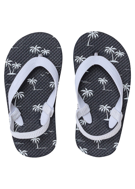 Snapper Rock ISLAND PALM NAVY FLIP FLOP TODDLERS