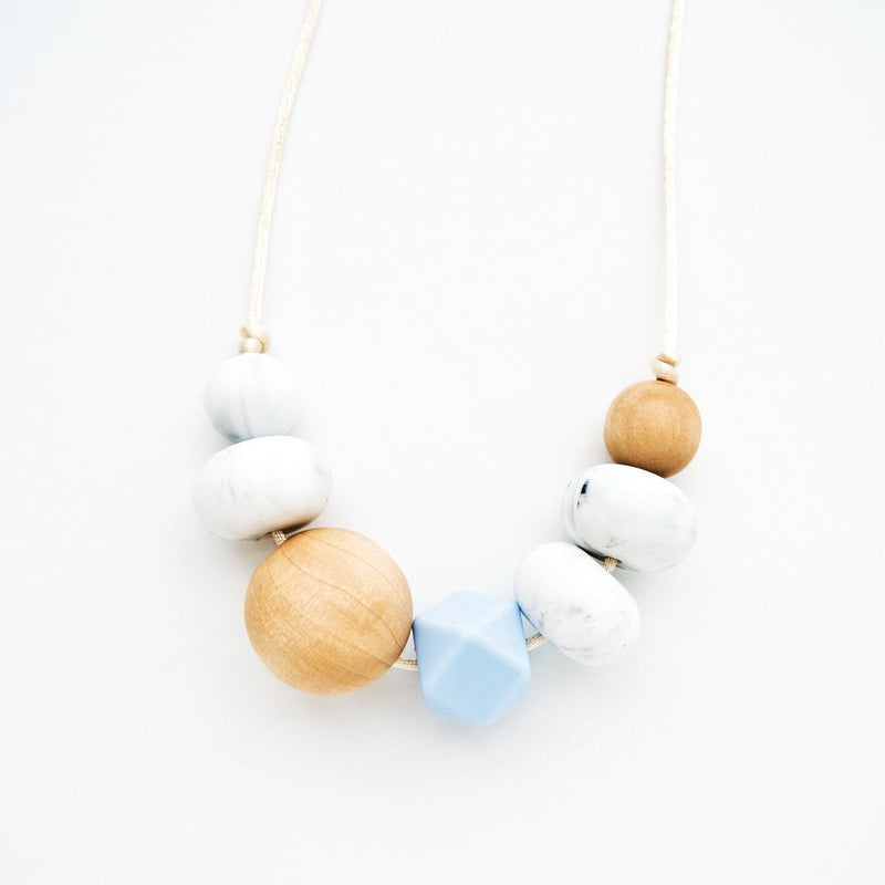 Loulou Lollipop Freda Silicone + Wood Teething Necklace