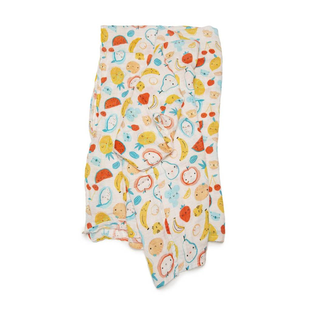 Loulou Lollipop Muslin Swaddle - Cutie Fruits