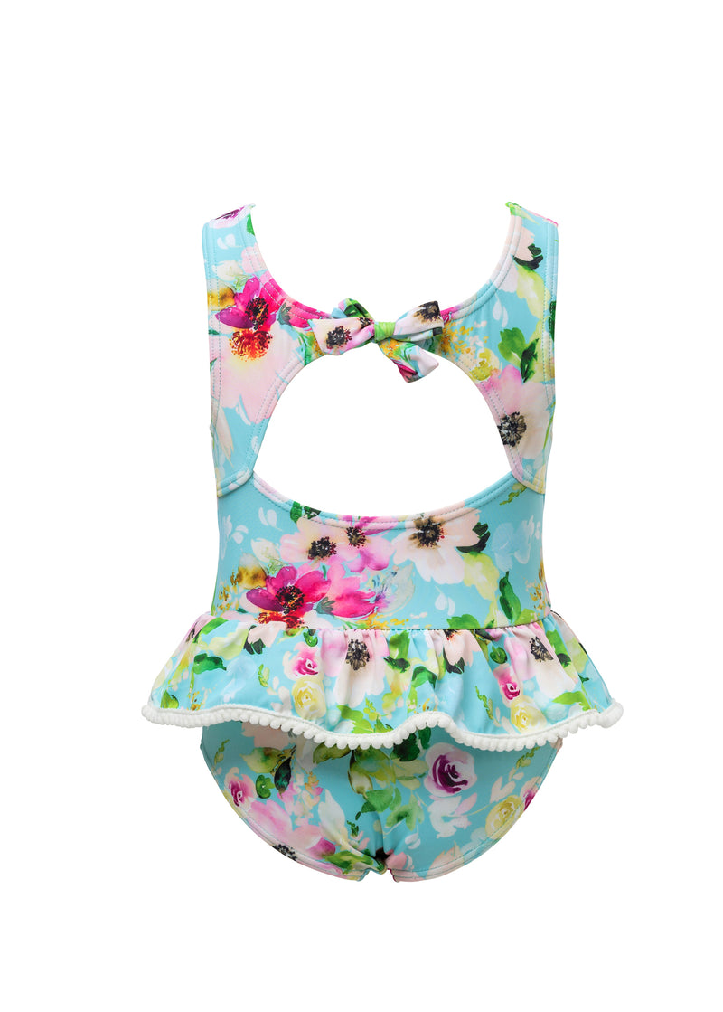 Snapper Rock WATERCOLOR FLORAL SKIRT SWIMSUIT
