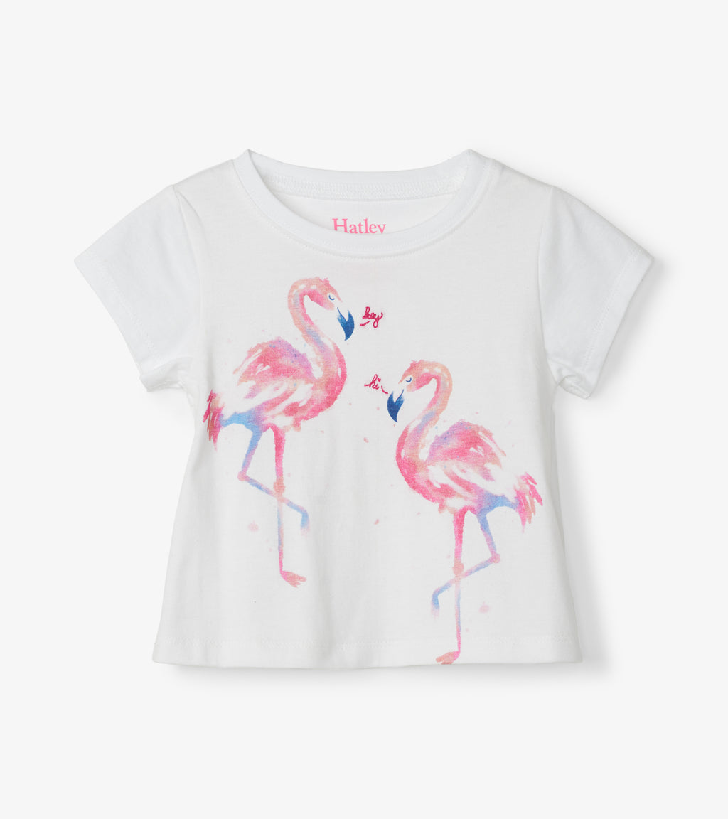 Hatley Baby Tee & Legging Set - Fancy Flamingos