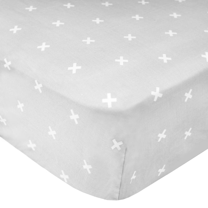Cotton Fitted Crib Sheet - Slate - Copper Pearl - 1