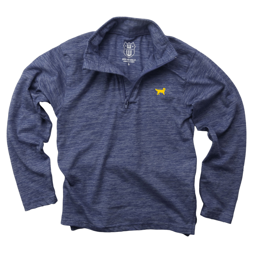 Wes & Willy 1/4 Zip Top - Midnight