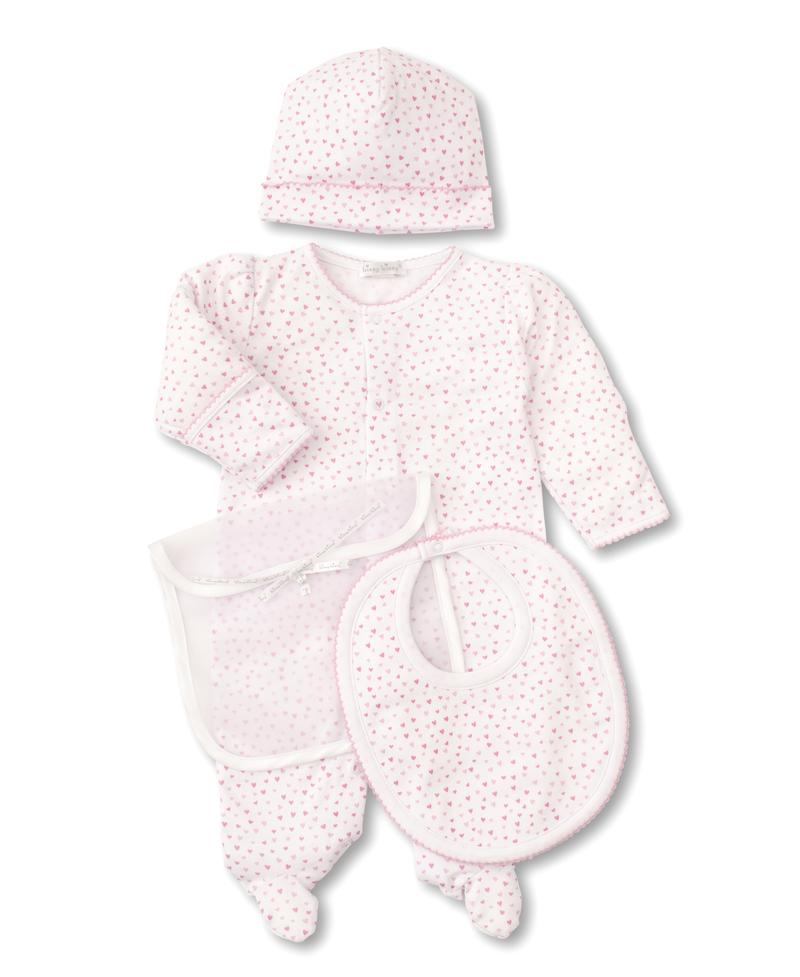 Kissy Kissy 3 Piece Gift Set - Sweetheart White & Pink