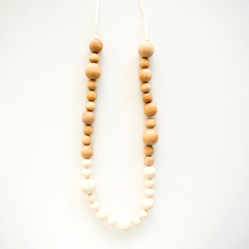 Loulou Lollipop Leia Wood + Silicone Teething Necklace