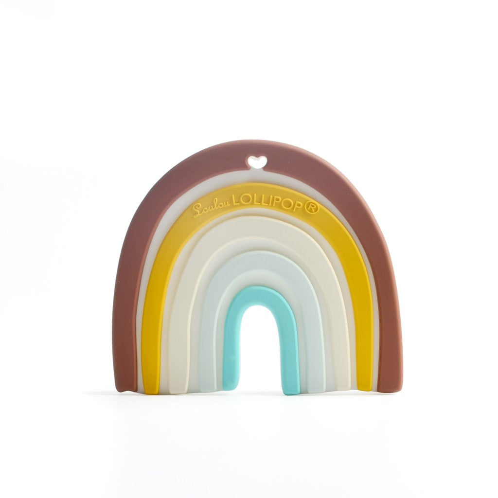 Loulou Lollipop Neutral Rainbow Silicone Teether