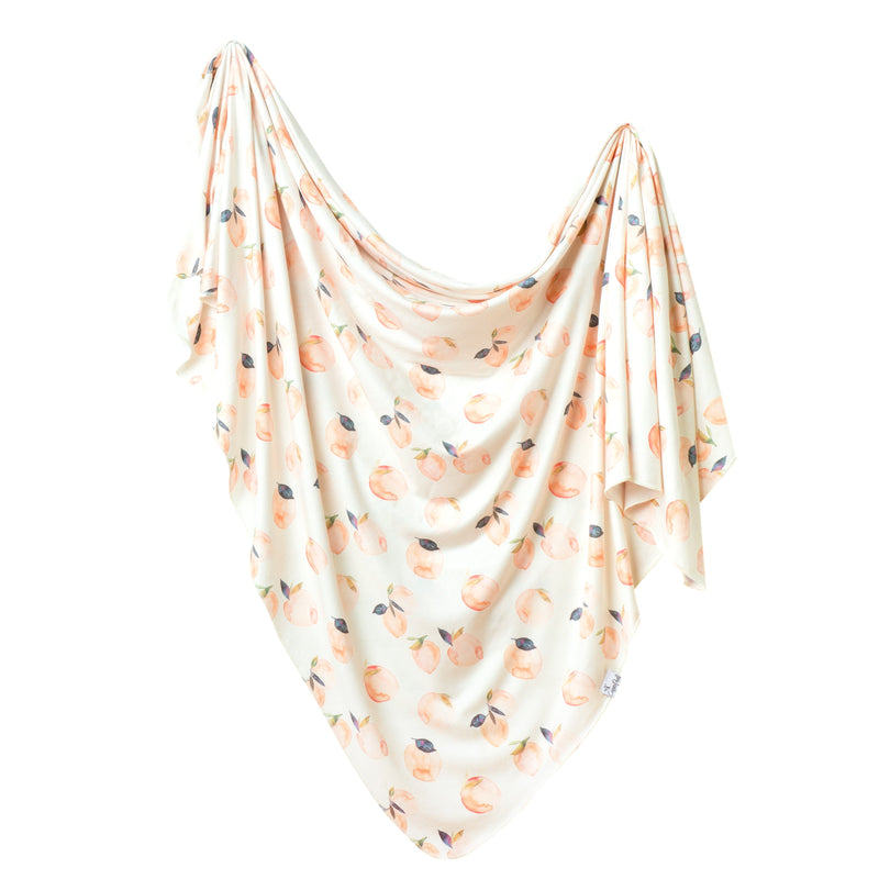 Copper Pearl Knit Swaddle Blanket - Caroline