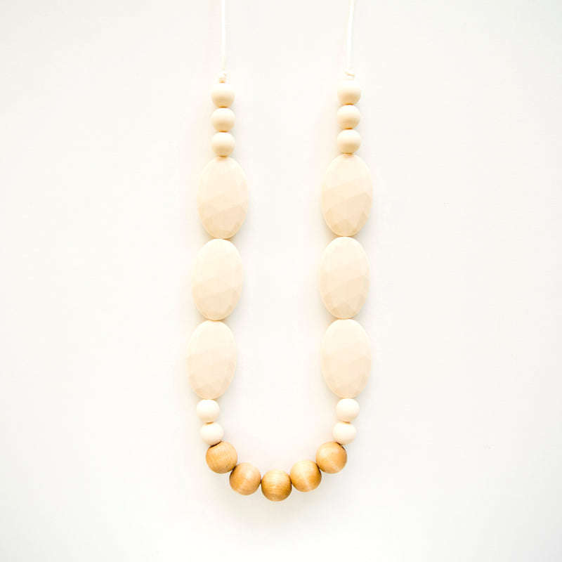 Loulou Lollipop Petunia Wood + Silicone Teething Necklace