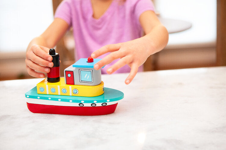 Jack Rabbit Creations Stack N' Play Tugboat