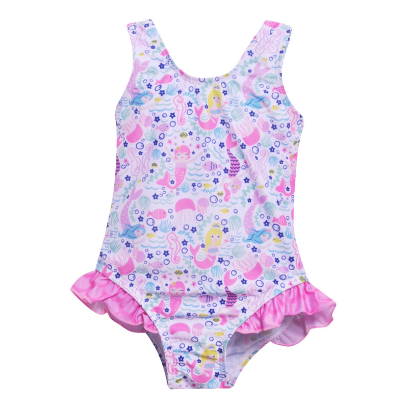 Flap Happy UPF 50+ Delaney Hip Ruffle Swimsuit - Malibu Mermaid