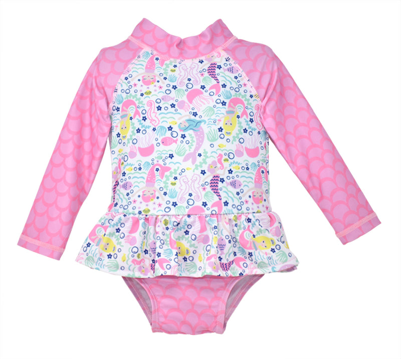 Flap Happy UPF 50+ Alissa Infant Rash Guard Swimsuit - Malibu Mermaid