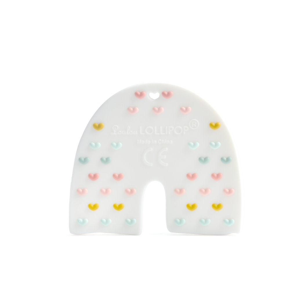 Loulou Lollipop Pastal Rainbow Silicone Teether