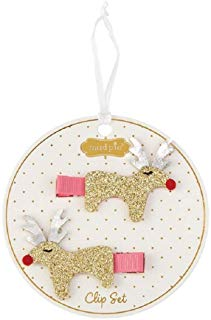 Mud Pie Reindeer Glitter Clips