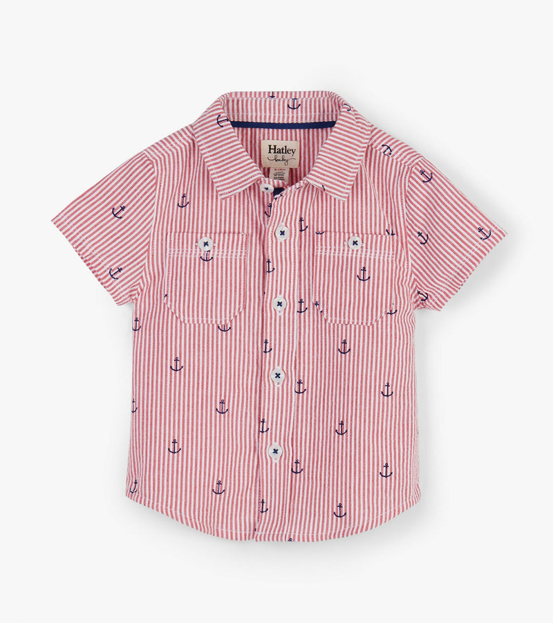 Hatley Tiny Anchors Baby Button Down Shirt