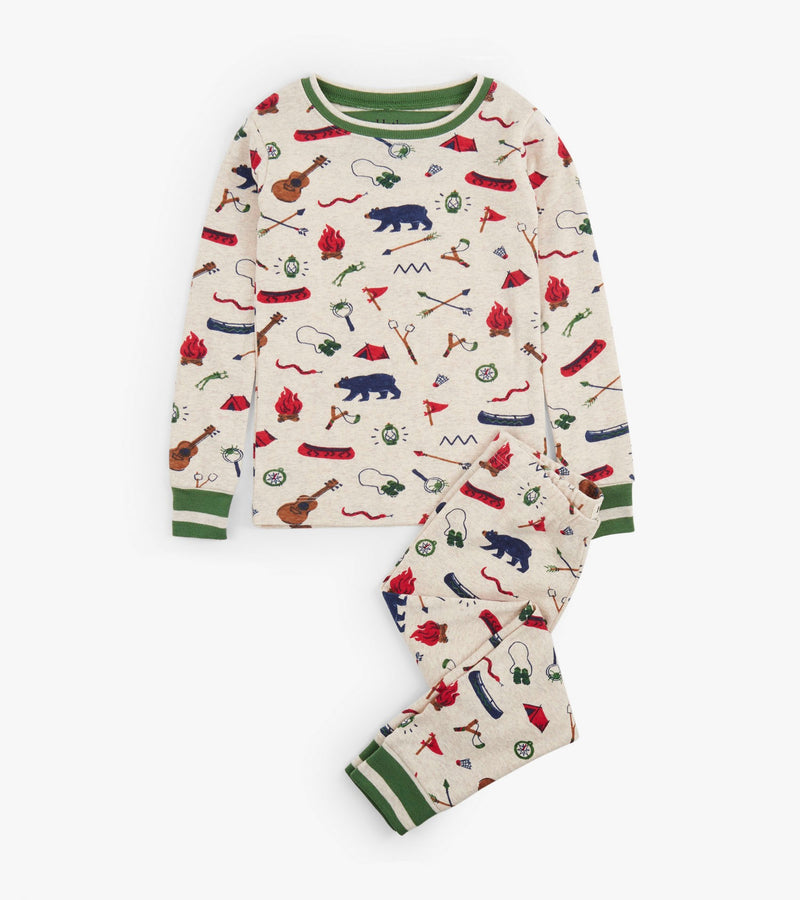 Hatley Summer Camp Organic Cotton Pajama Set