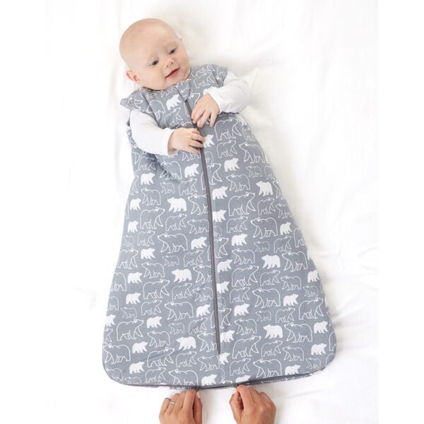 GunaPod Sleep Sack -  grey bear design