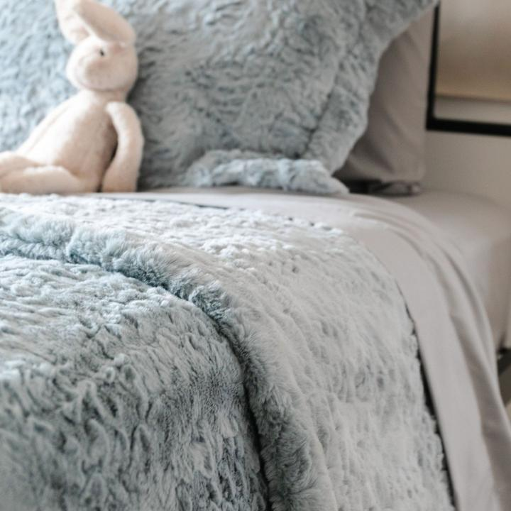 Saranoni Dream Twin Blanket - Heather Blue
