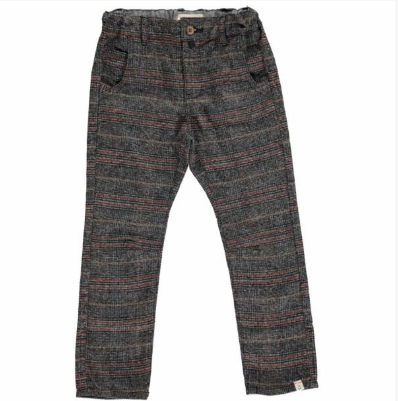 Me & Henry Grey Woven Pants with Suspenders