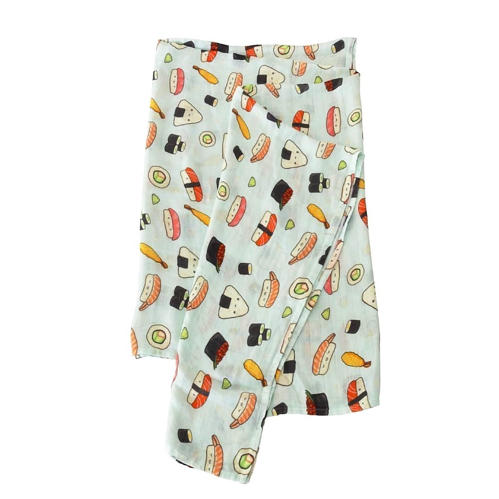 Loulou Lollipop Muslin Swaddle- Sushi