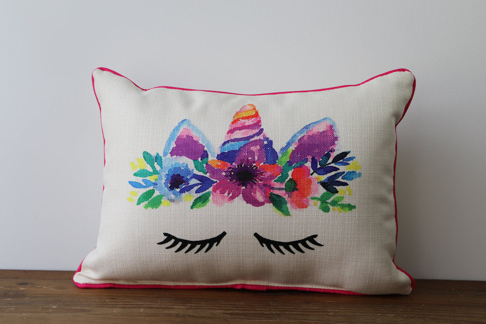 Little Birdie Arts Unicorn Pillow