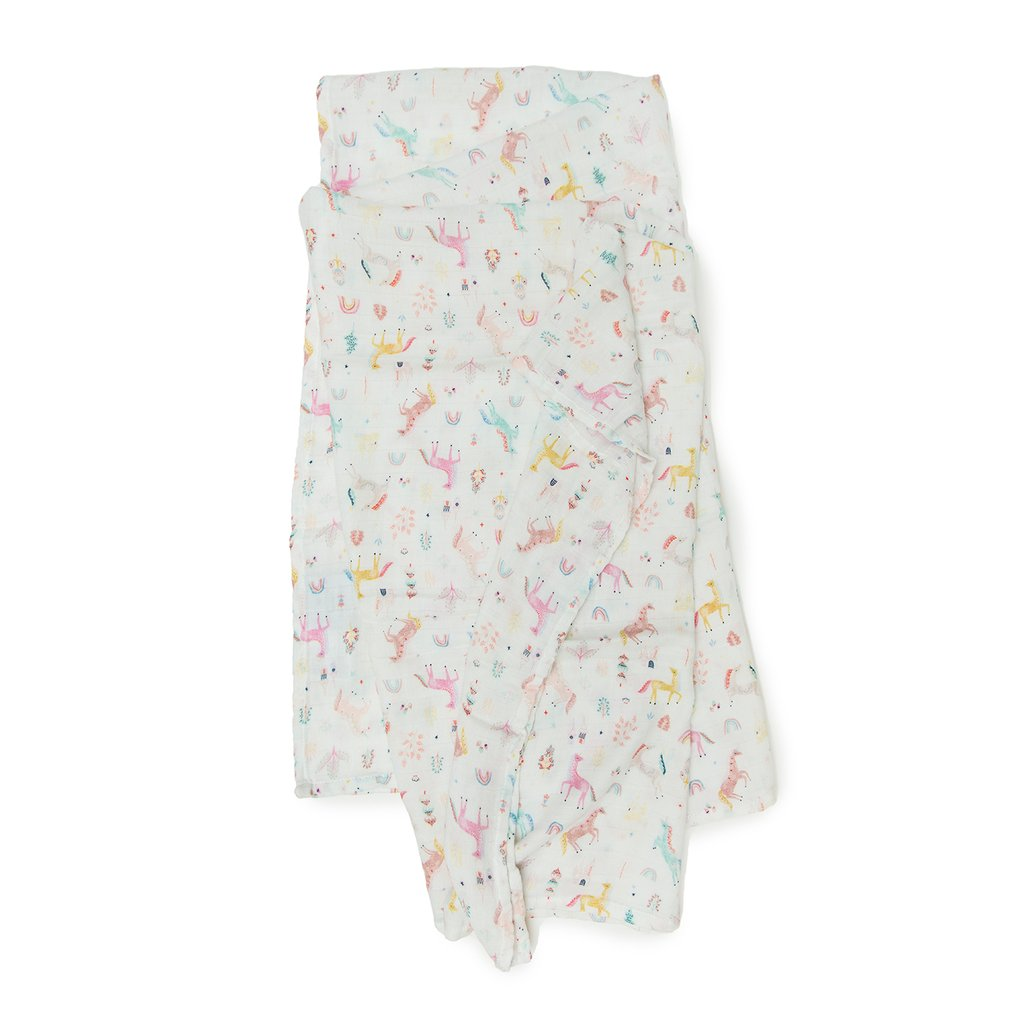 Loulou Lollipop Muslin Swaddle- Unicorn Dream