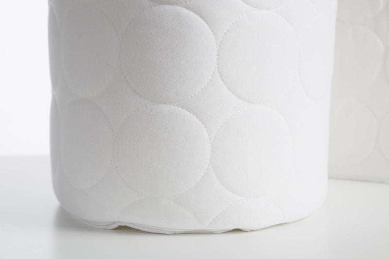 Oilo Quilted White Bumper - Stone Piping & Ties