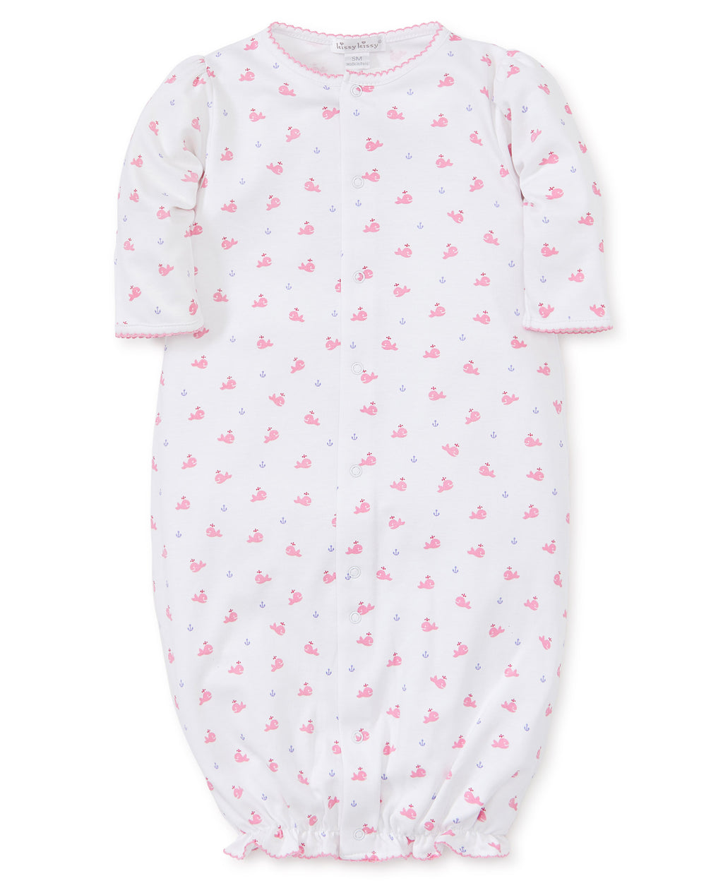 Kissy Kissy Whales Convertible Gown w/Hat