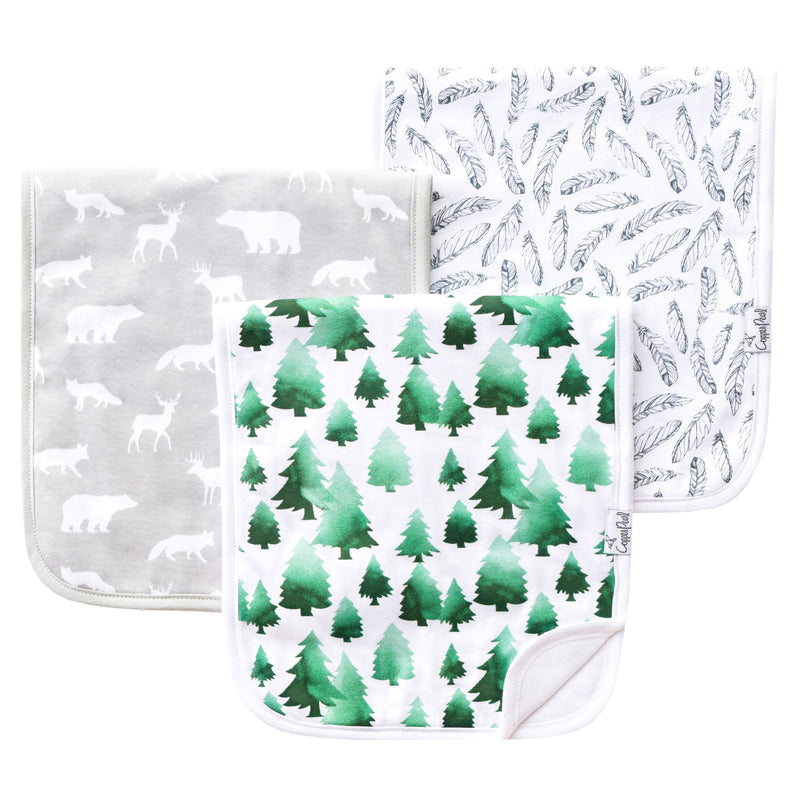 Copper Pearl Premium Burp Cloths - Woodland