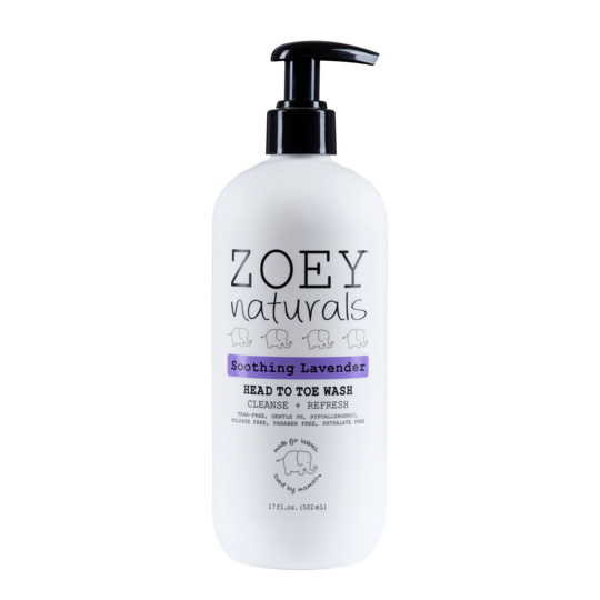 Zoey Naturals Soothing Lavender Head To Toe Wash 17 oz.