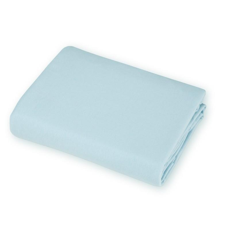 Brixy Supreme Jersey Crib Sheet- Light Blue