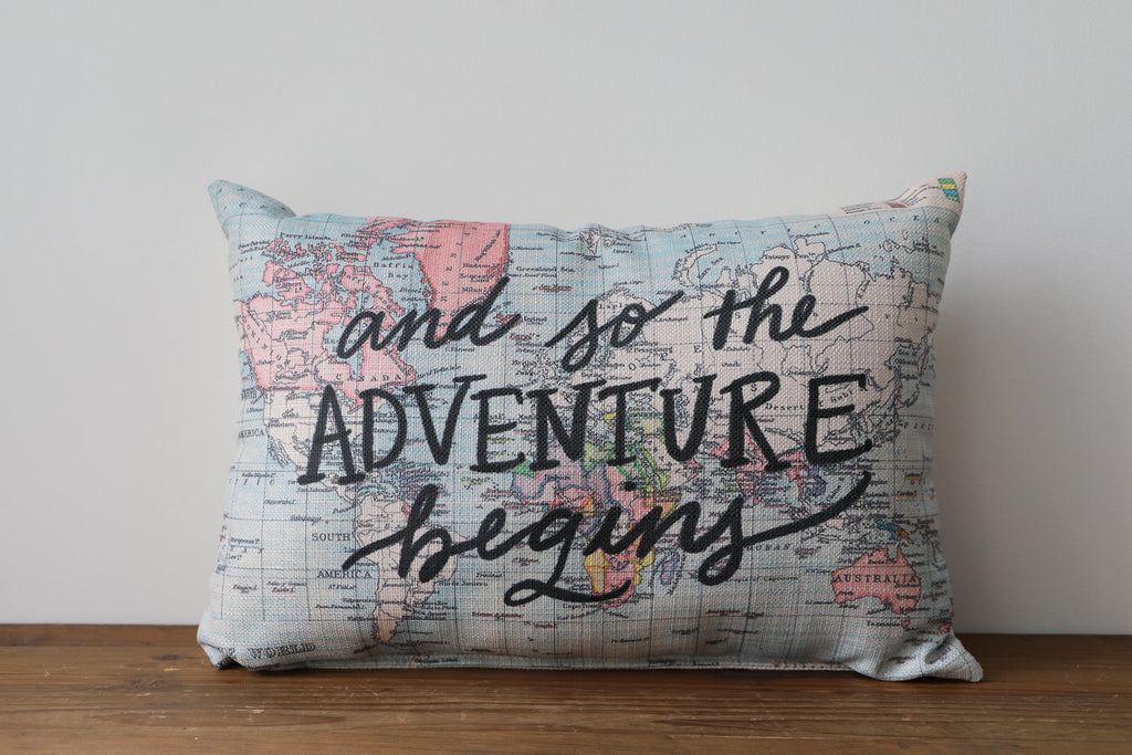 "Little Birdie Arts ""So The Adventure Begins"" Pillow"