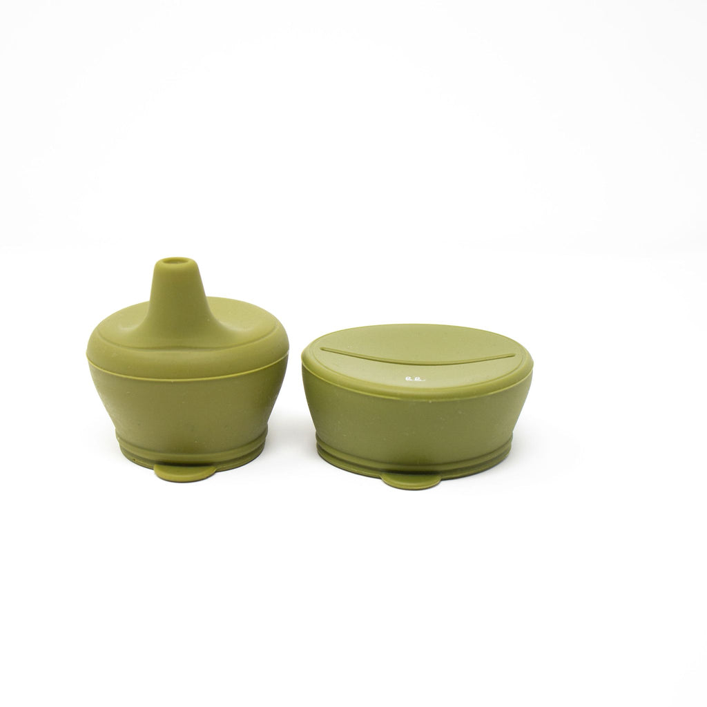 baby bar & Co Silicone Snack & Sippy Lid - Army Green