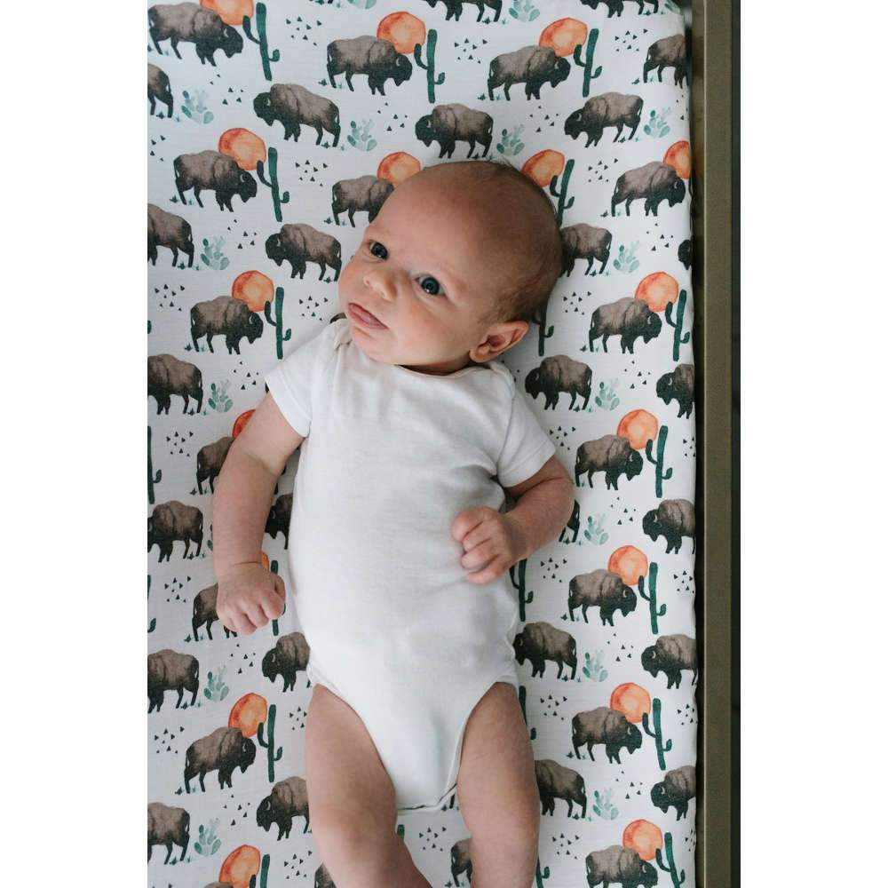 Copper Pearl Diaper Changing Pad Cover - Bison