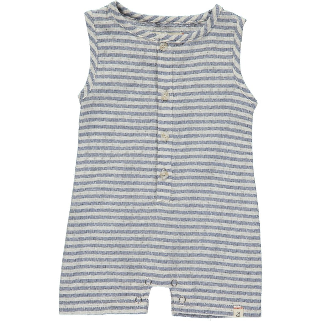 Me & Henry Blue/White Stripe Woven Playsuit