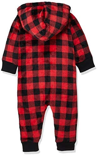 Little Blue House Infant Hooded Fleece Jumpsuit - Buffalo Plaid