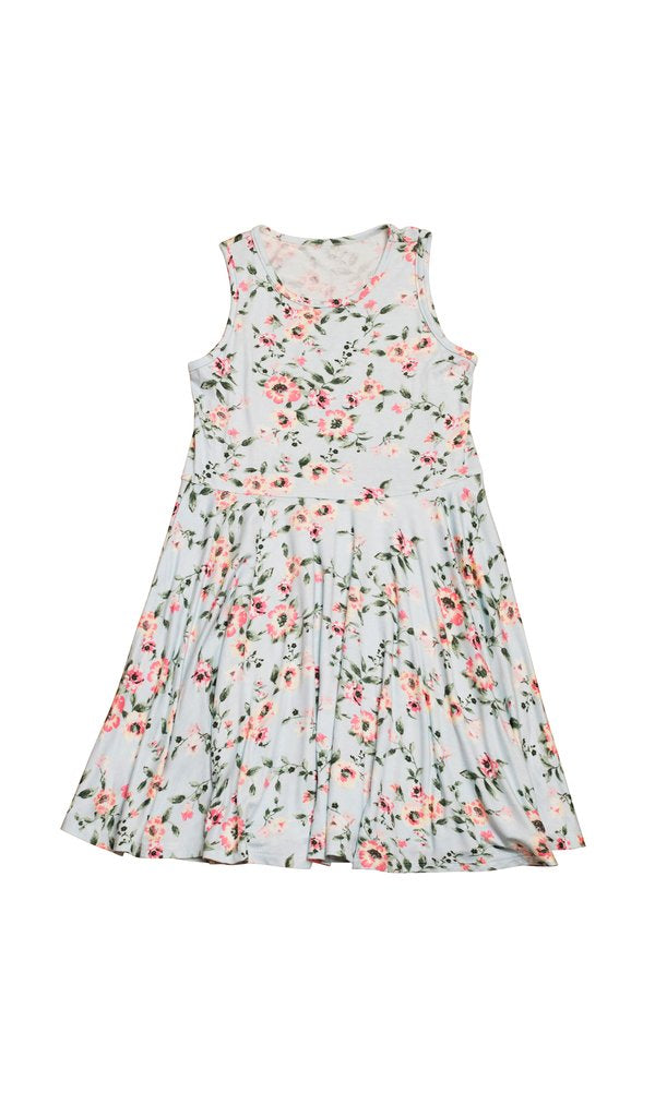 Everly Grey Lucia Kids Twirly Dress  - Cloud Blue